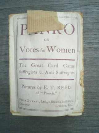 Suffrage Votes For Women Panko Cards Game Full Deck Pankhurst