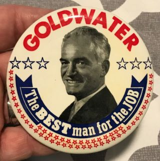 "Barry Goldwater 1964 Scarce 3.  5 "" Diameter Cello"