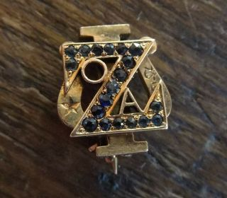 Zeta Psi Fraternity Pin Gold With Sapphires 1904 Yale