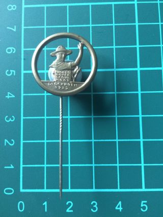 Boy Scout 1935 World Rover Moot Participant Pin Badge
