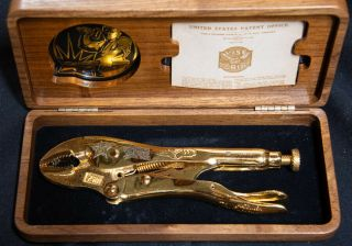 75th Anniversary Collector Series Vise - Grips 7wr Gold Version In Walnut Case