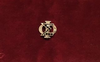 Sigma Phi Fraternity Pin,  1860