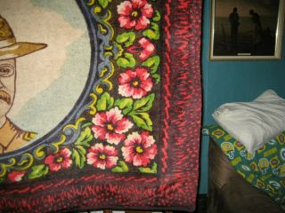 Early 1900 ' s Horsehair Lap Robe,  Blanket - Teddy Roosevelt Rough Rider - Museum Piece 4