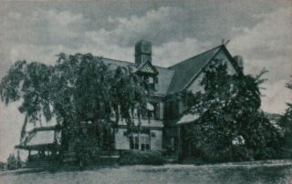 Sagamore Hill,  Home Of Roosevelt,  Oyster Bay,  Long Island,  Ny Vintage Postcard