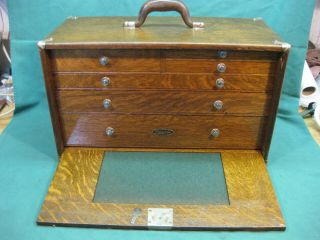 Gerstner Six Drawer No.  271a Tool Chest With Key - In