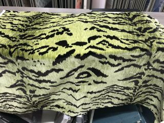 Scalamandre Green Tigre Velvet 1 Plus Yard