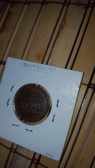 1860 - 61 copper Abe Lincoln token Presidents house scarce BU political campaign 7