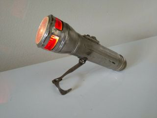Usa Lite Red Head Bullet End Flashlight With Folding Support - Pat.  Dec 1921