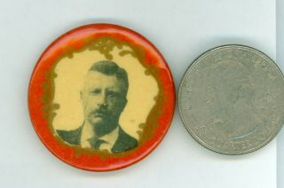 Vintage 1904 President Theodore Roosevelt Campaign Pinback Button Red
