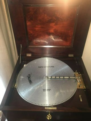 CENTURY DISC SHIFTING MAHOGANY DISC MUSIC BOX 4
