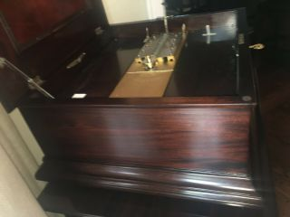 CENTURY DISC SHIFTING MAHOGANY DISC MUSIC BOX 8