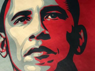 Shepard Fairey Obama HOPE 2008 campaign Print hand signed and dated 2