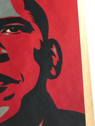 Shepard Fairey Obama HOPE 2008 campaign Print hand signed and dated 5