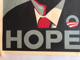 Shepard Fairey Obama HOPE 2008 campaign Print hand signed and dated 7