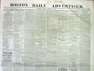 1860 Newspaper Republican Abraham Lincoln Elected President Civil War Looms