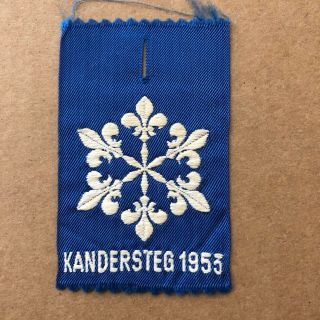 1953 World Scout Moot Kandersteg Switzerland,  Participant Badge