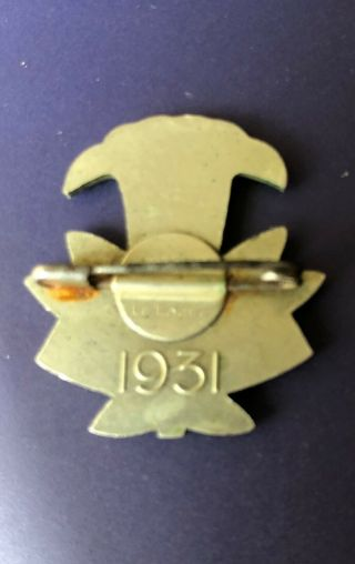 1931 WORLD SCOUT MOOT KANDERSTEG SWITZERLAND,  PARTICIPANT PIN BADGE 6