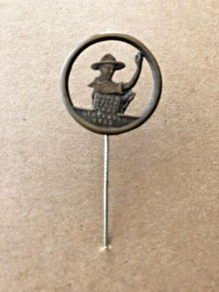 1935 World Scout Moot,  Stockholm Sweden,  Participant Stick Bronze Pin Badge