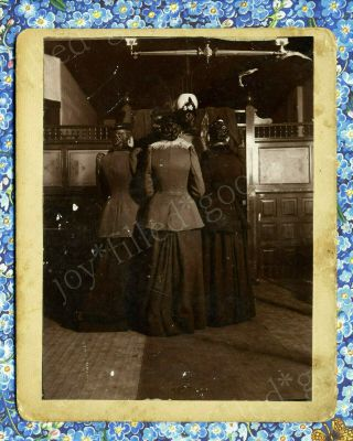 1893 Abstract Photo Back Of Ladies At An Exhibit Columbian Worlds Fair Chicago