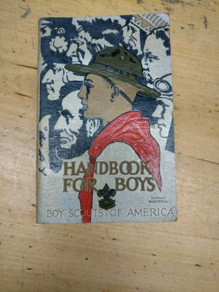 1935 Boy Scout Handbook For Boys Norman Rockwell Cover, .