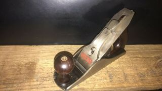 Vintage Stanley Bailey No.  4 Smooth Bottom Woodworking Plane Made In Usa.  Pat 1918