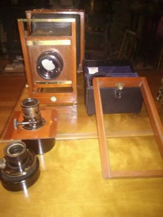 Century 2 8x10 Camera With Lenses And Double Wet Plate Holder.