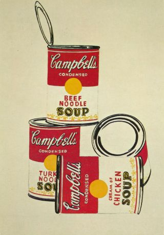 Andy Warhol - 4 Campbell