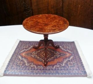 Artisan Crafted Dollhouse Miniature Signed Geoffrey Wonnacott Burl Top Table