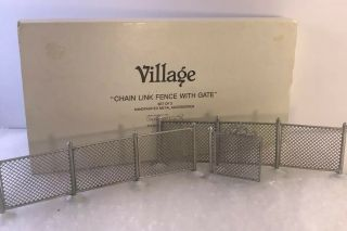 Dept 56 Christmas Village Chain Link Fence With Gate - 5234 - 5