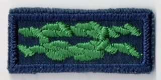 1969 - 1972 Scouters Training Award Cub Sea Scout Gauze Square Knot 201254
