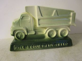 Vintage Advertising Axle And Equipment Cicero Dump Truck Planter