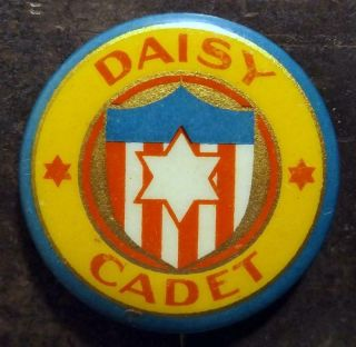 "Antique 1¼ "" Daisy Cadet (air Rifle) Celluloid Pinback Button Early 1900s"