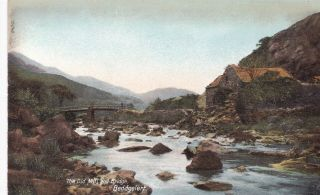 Beddgelert - The Old Mill And Bridge By Wrench No.  15246