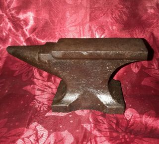 Antique Blacksmith Anvil Small Unmarked 7 Lb Iron Jeweler Or Farrier Cobbler