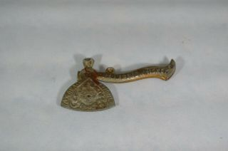 Antique Art Stove Co Advertising Axe Hatchet Cut Out The Whiskey Dated 1901