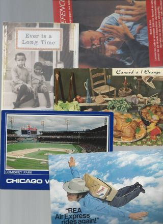5 Advertising Postcards; Rea Express,  Chicago White Sox,  Book,  C.  1970