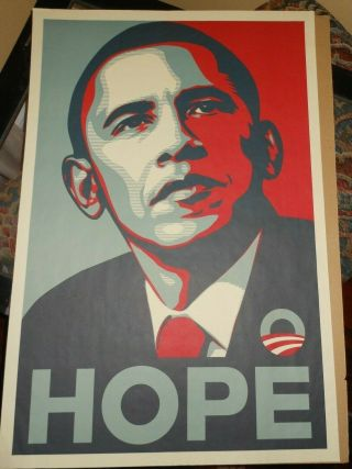 "Obama 2008 Poster By Shepard Fairey - Historical Hope Poster - 2008 24 "" X36 """