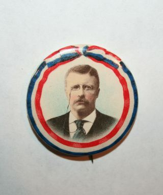 1904 Teddy Roosevelt President Campaign Button Political Pinback Pin Election