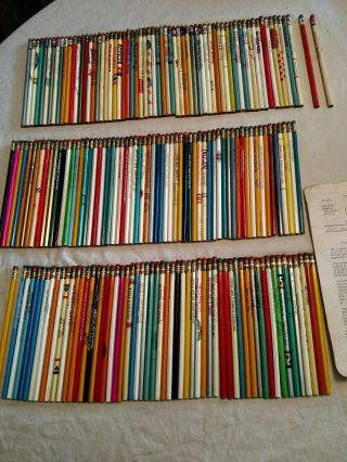 185 Vintage Advertising Pencils 121 From California Mostly With 5 Digit Phone.