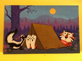 Tony The Tiger 1968 Kellogg Company Summer Camp Vtg Postcard Stamped Unposted