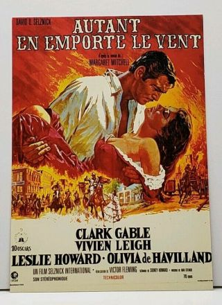 Gone With The Wind French Movie Poster Postcard G20