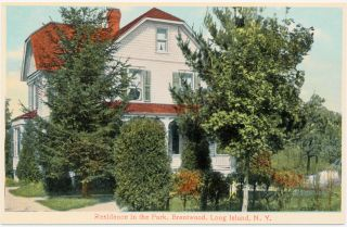 Brentwood Ny – Residence In The Park Advertising Postcard – Long Island
