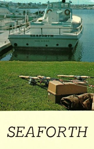 Vintage Seaforth Boats Advertising,  San Diego,  Calif.  Postcard P128