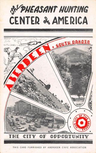 Sd Rare 1930's Promotional Advertising Of Aberdeen,  South Dakota - Brown County