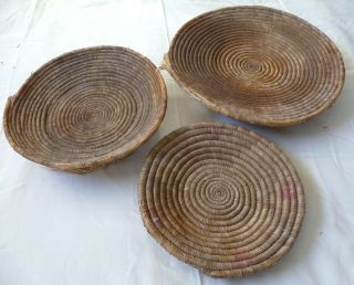 Set Of 3 Vintage Native American/indian Baskets - From Santa Fe