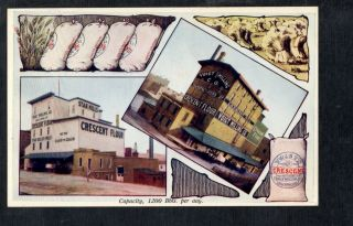A577 Postcard Advertising For Voigt Milling Co Mi Flour Factory