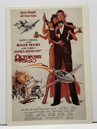 Roger Moore James Bond 007 Octopussy Movie Poster Postcard G20