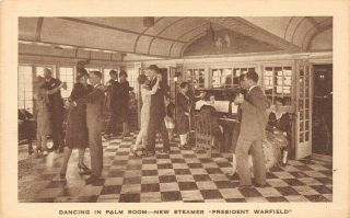 Dancing In Palm Room Steamer President Warfield Baltimore Steam