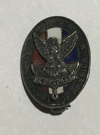 Eagle Scout Hat Pin Sterling Bsa Bc1
