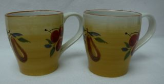 Longaberger China Napa Orchaerd Pattern Mug - Set Of Two (2) - 4 - 1/2 ""
